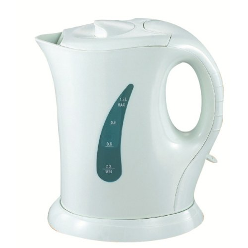 1lt White Cordless Electric Kettle Travel Mini Jug