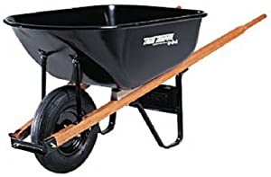 Ames True Temper C6 6-Cubic-Foot Steel Tray Contractor Wheelbarrow