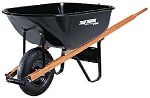 Ames True Temper C6 6-Cubic-Foot Steel Tray Contractor Wheelbarrow