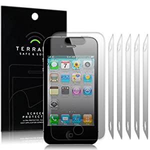 iPhone 4/4S screen protector guard 6 in 1 pack