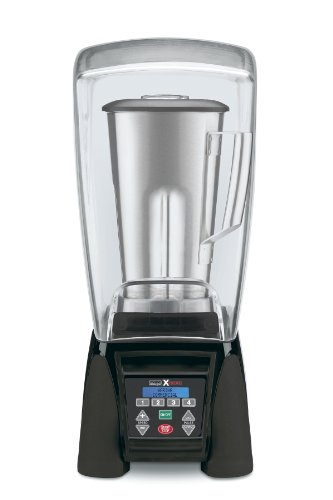 Waring Commercial Mx1500Xts Reprogrammable Hi-Power Blender With Sound Enclosure And Stainless Steel Container, 64-Ounce