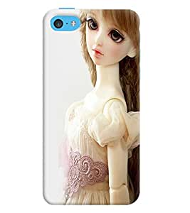Printvisa Baby Doll Dressed Up In White Back Case Cover for Apple iPhone 5C
