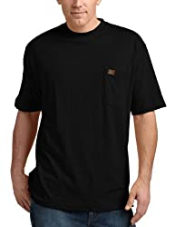 RIGGS WORKWEAR by Wrangler Men's Big and Tall Pocket T-Shirt,Black,XXX-Large Tall