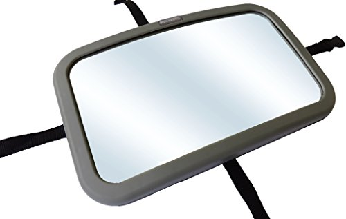 PolyAuto Baby Rear View Mirror - Infant Back Seat Mirror for Car - Extra Large Convex Mirror with Pivot Attachment - Lightweight & Shatter-proof for Added Safety & Protection - Easily Adjustable, Unique Swivel 360 Degrees Ball Adjustment - Modern, Innovative Design - Stress Free Driving - Keep You & Your Baby Safe - Lifetime Guarantee - 1