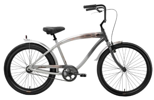 Nirve Men's Inferno 1 Speed Cruiser Bicycle (Charcoal, 18-Inch Frame/26-Inch Wheels)
