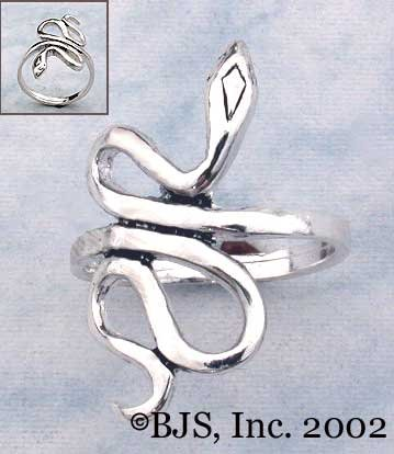Snake Ring - Sterling Silver Animal Jewelry
