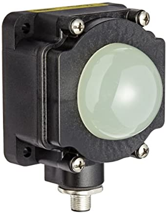 Banner K80LGRYNQ EZ Light Multi Color General Purpose Indicator Light, PNP Input Type, 50mm Dome Housing Style, Green/Red/Yellow Light Functions, DIN Rail Mounting Barrel, 18 to 30VDC Supply Voltage