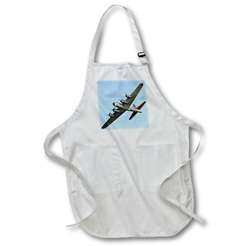apr_97114_1 Danita Delimont - War Planes - B-17G Flying Fortress Aluminum Overcoat, War plane - US50 BFR0034 - Bernard Friel - Aprons - Full Length Apron with Pockets 22w x 30l