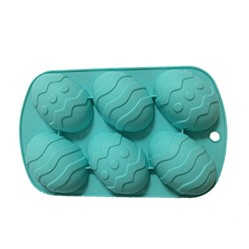 Yunko 6 Easter Egg Shaped Silicone Mold Bakeware