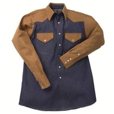 1200 Blue Denim/Brown Duck Shirts - la bdd 14-1/2 br dk/bl den (l)