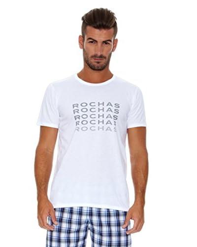 Rochas París T-Shirt Manica Corta Logo [Bianco]