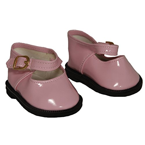 Pink Mary Jane Shoes for 18 Inch Dolls Like American Girl