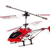 Great Value RC Helicopters Genuine Syma S107G 3CH Infrared Mini Metal RC Helicopter with Gyro RTF (New Package) Red