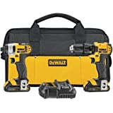 Factory-Reconditioned Dewalt DCK280C2R 20V MAX Cordless Lithium-Ion 1/2 in. Compact Drill Driver and Impact Driver Combo Kit