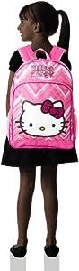 FAB Starpoint Little Girls' Hello Kitty 16 Inch Zig Zag Backpack