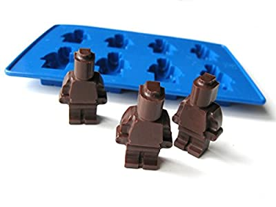 Set of 5 Silicone Lego Themed Candy Molds - Different Forms for Candy, Chocolate, Gummies, Ice cubes and many more.
