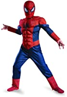 Disguise Boy's Marvel Ultimate Spider-Man Muscle Light Up Costume, 10-12