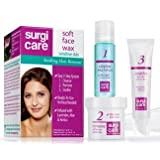 SurgiCare Soft Face Wax for Sensitive Skin, Hair Removal 1 Kit