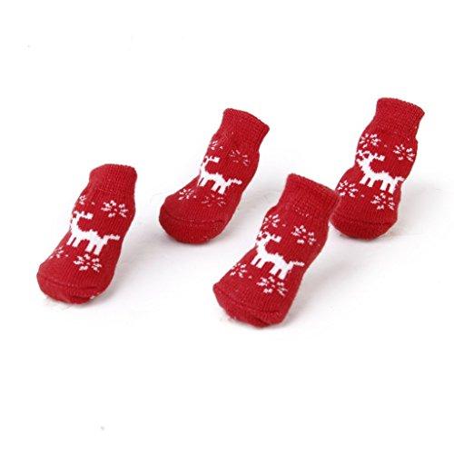 Bild von: Weihnachten Hund Katze Pfotenschutz Rentier Rutschfeste Socken XS
