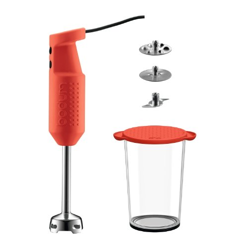 Bodum K11179-294 BISTRO Electric blender stick with accessories  Red 