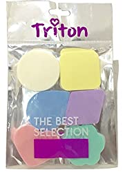 Triton Set of 6 Differently Shaped High Quality Face Sponges