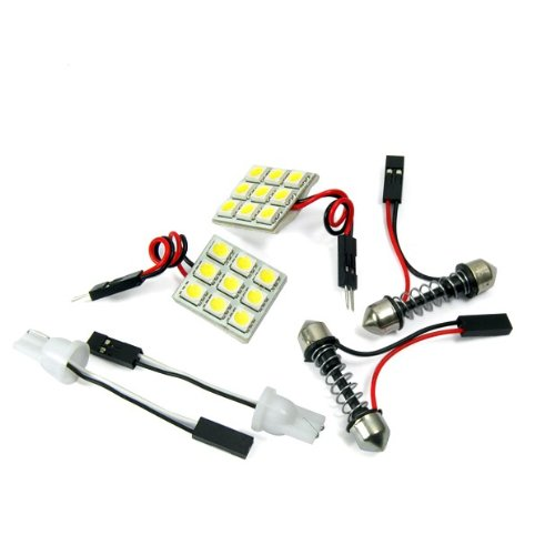 9 Smd Led Super White Dome Interior Light Bulb Wedge Indicator Side Door 3 Pcs