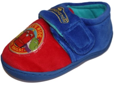 New Official Boys CHUGGINGTON Lets Ride Cartoon Character Slip On Style Slipper. To Fit UK Child Sizes 5 - 6 - 7 - 8 - 9 - 10