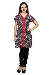 Lady In Red Cotton Kurta (Size- XXL)