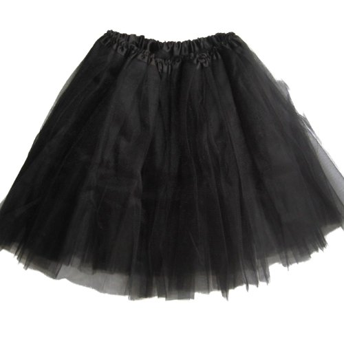 "Older Girl Tutu Ballet Dance 16.5"" Long Waist Stretches to 36"" (Black)"