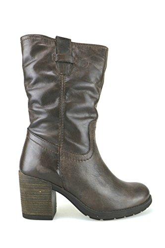 scarpe donna KEYS stivaletti marrone pelle AJ123 (38)