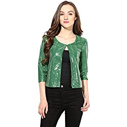 Shrug In Green Color Sequin