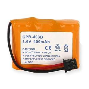 Radio Shack ET-557 Cordless Phone Battery 1X3-2/3AA/B - 3.6 Volt, Ni-CD 400 mAh - Cordless Phone Replacement Battery