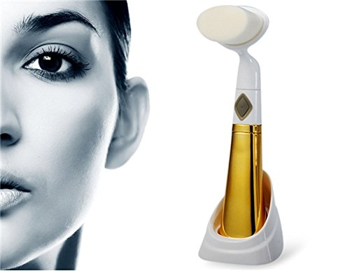 Mei Bai Mb-6 Home Beauty Cleansing Massager Brush Electric Facial Washing Machine (Golden) By Preciastore