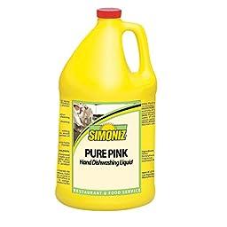Simoniz P2705004 Pure Pink All-Purpose Hand Liquid Dishwashing Detergent, 1 gal Bottles per Case (Pack of 4)
