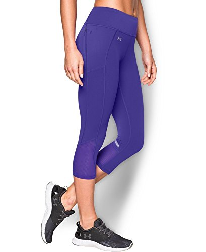 Under Armour Women's Fly-By Run Capri, Deep Orchid (899), Large