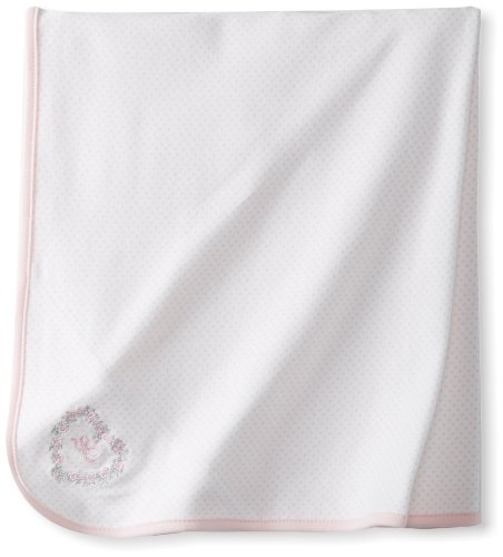 Little Me Baby-Girls Newborn Thanks Heavens Tag Along Blanket, Pink, One Size