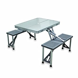 Picnic Time Portable Folding Picnic Table with Seating for 4 by Picnic Time