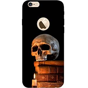 Casotec Skull Magic Candles Books Design Hard Back Case Cover for Apple iPhone 6 / 6S