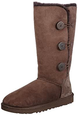 UGG Australia Womens Bailey Button Triplet Boot Chocolate Size 5