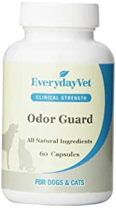 EverydayVet Odor Guard Health Supplement for Dogs and Cats, 60 Capsules