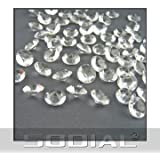 800 Diamond Table Confetti Wedding Bridal Shower Party Decorations 4 Carat/ 10mm Clear