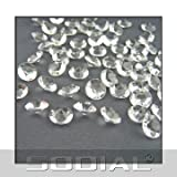 SODIAL(R) 800 grains de diamants artificiels pour une dšŠcoration quotidienne Transparent