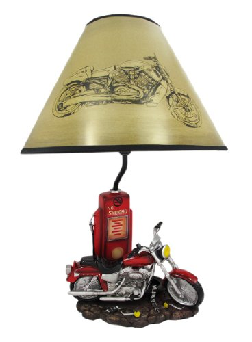 MEMORY LANE Retro Motorcycle 19 Inch Table Lamp