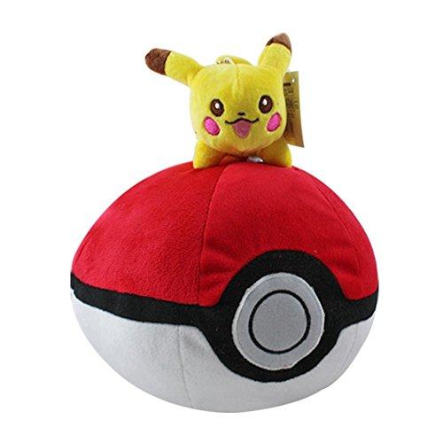 """Pokemon 9"""" Pikachu Poke Ball Plush Doll Stuffed Animals Figure Soft Anime Collection Toy"""