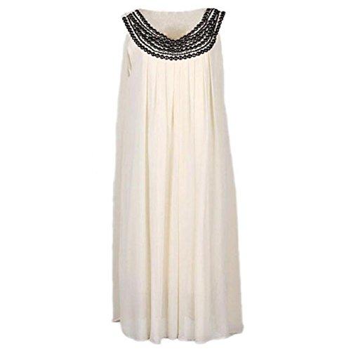Lowpricenice(TM)women Loose Casual Chiffon Pregnant Women Dresses (M, Apricot)