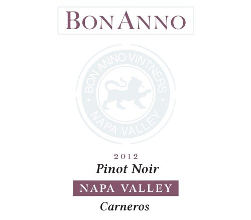 "2012 Bonanno Pinot Noir ""Carneros"" Napa Valley 750 Ml"