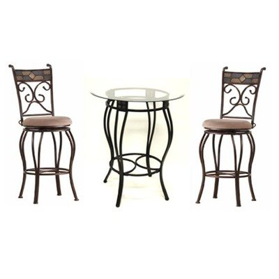 counter height pub set with glass table top in black gold popularity