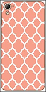 Snoogg Motif Print Pink Designer Protective Back Case Cover For HTC Desire 826