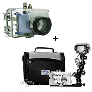 Fantasea FSD-770 Underwater Housing for Canon PowerShot SD1200 IS / Ixus 95 IS, SD770 IS / IXUS 85 IS & SD1100 / IXUS 80 Digital Cameras with Nano Single Pro Set