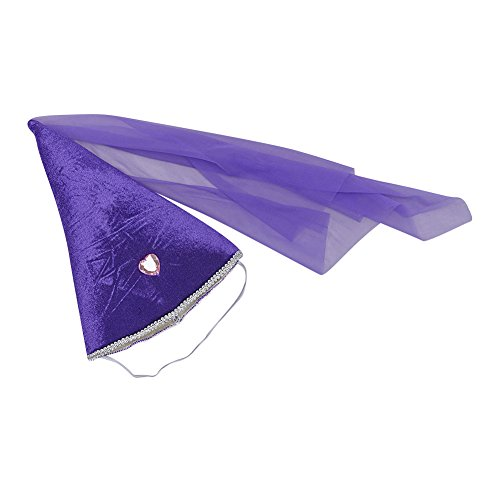 Purple Velour Princess Cone Hat